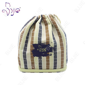 Customized Plaid Cotton Drawstring Bag for Gift Package pictures & photos