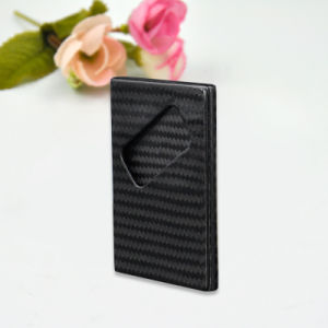 Men Slim Wallet Modern Design Carbon Fiber Card Case Passport Holder Pocket Business Holder pictures & photos