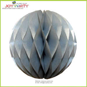 "8"" Silver Decorative Honeycombs Paper Ball"