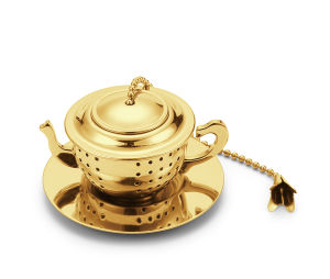 Mini Tea Pot Tea Cup Infuser with Chain Tea Strainer pictures & photos
