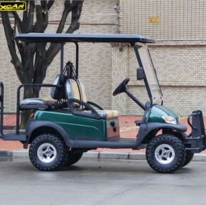 48V Battery Operated 4 Passengers Electric Shopping Cart for Sale pictures & photos