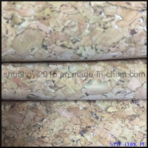 Natural Cork PU Leather for Shoes Bags New Fashion Material pictures & photos