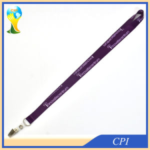 Sublimation Purple Lanyard with Crocodile Clip for ID pictures & photos