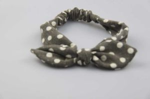 Spot Print Headband Hair Accessories, Fashion Ethnic Look Printing Headwrap with Bow pictures & photos