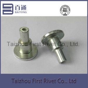 14.2X34mm White Zinc Color Tubular Steel Shoulder Rivet pictures & photos