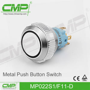 22mm Metal Pushbutton Switch with Ring LED Light pictures & photos