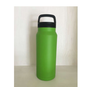 36oz Double-Wall 304 Stainless Steel Wide-Mouth Vacuum Sport Water Bottle with Flat Cap
