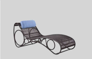 Outdoor Rooftop Balcony Alu Rattan Lying Chair Pool Lounge Bed pictures & photos