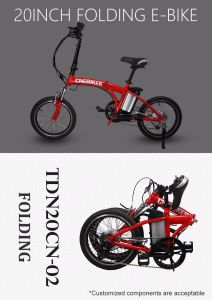 20′′ Portable Mini Folding Electric Bike pictures & photos