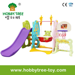 2017 Six Function Indoor Plastic Playground Equipment for Home (HBS17019A) pictures & photos
