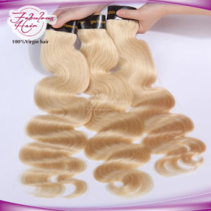Malaysian 613# Body Wave Blonde Hair Virgin Remy Hair Weft pictures & photos