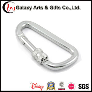 D Shaped Aluminum Screw Lock Carabiner Hook for Climbing pictures & photos
