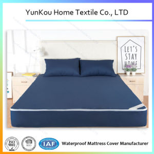 Navy Blue Premium Hypoallergenic Waterproof Mattress Encasement for Sale pictures & photos