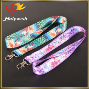 Promotion Custom Whistle Sublimation Logo Lanyard with ID Pouch pictures & photos