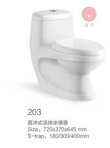 203 Washdown Ceramic One-Piece Toilet New Model pictures & photos