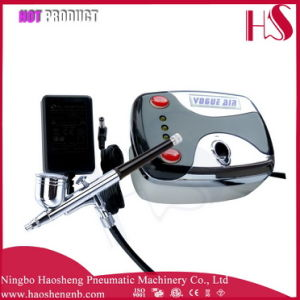 HS08-3AC-Sk Mini Air Compressor for Airbrush Makeup Set 0.4mm Needle Nail Kit pictures & photos