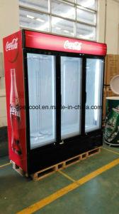 Commercial Beverage Display Cooler/Drinks Display Fridge/Supermarket Display Refrigerator pictures & photos