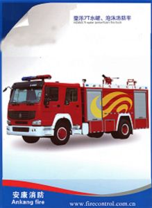 HOWO 7t Water Tanker/Foam Fire Truck pictures & photos