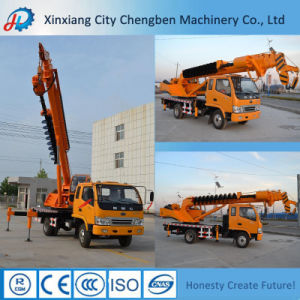 Powerful Mobile Straight Boom Used Crane Boom Truck with Drill pictures & photos