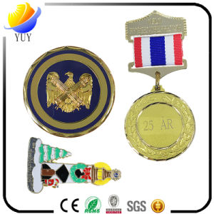 Metal Medal. 3D Logo Metal Sports Medal Engraving Medal with Colorful Ribbon pictures & photos