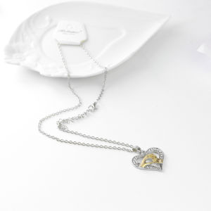 Costume Jewelry Mother′s Day Gift Gold Crystal Heart Pendant Necklace Love Gift for Her Mum Daughter pictures & photos