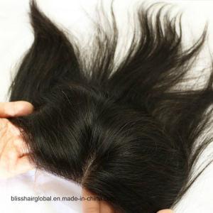 Bliss Hair 4X4 Lace Silk Base Closure Three/Free/Middle Part Top Swiss Silk Base Lace Closure Straight Peruvian Virgin Human Hair Closures Pieces pictures & photos