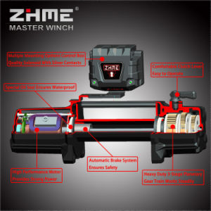 12000lbs Pull Auto Application off Road Winch with Synthetic Rope pictures & photos