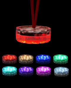Battery Operated Multi Colors Remote Controller LED Submersible Light pictures & photos