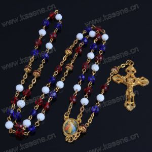 Mixed Colors Crystal Beads and Red Copper Beads Religious Rosary Necklace, Catholic Rosary pictures & photos