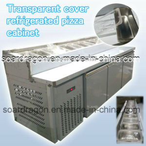 New Design Transparent Cover Refrigerated Pizza Cabinet pictures & photos