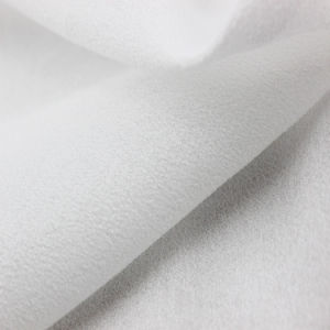 Weft Stretch Light Chiffon Georgette 100% Polyester Crinkle Fabric pictures & photos