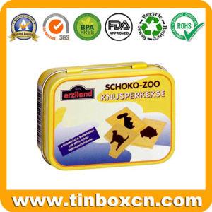 Rectangular Chocolate Tin Box for Metal Food Tin Packing pictures & photos
