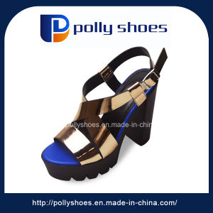 Fashion Wholesale Ladies High Heel Fancy Sandals pictures & photos