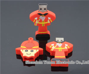 Fireman Shape USB Flash Disk Customized USB Flash Drive pictures & photos