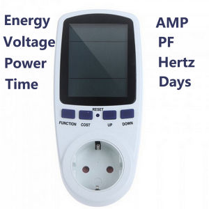 Power Meter Plug Socket Energy Watt Voltage AMPS Meter with Electricity Usage pictures & photos