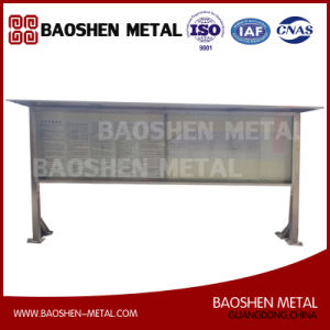High Quality Stainless Steel for Customized Street Furnitur Bus Stop Advertising Board pictures & photos