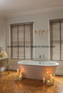 Ladder String Windows Blinds Wood Slat Basswood Blinds pictures & photos