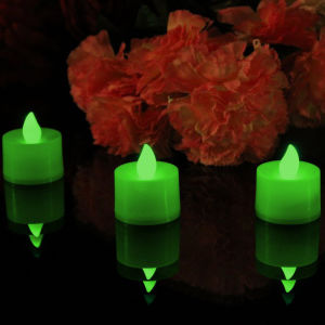 Green Light Tea Light LED Flameless Candle for Indoor Use pictures & photos