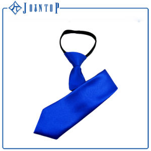 Pure Silk Royal Blue Silk Zipper Necktie pictures & photos