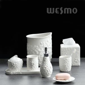 Elegant Embossed Porcelain Bathroom Set (WBC0890A) pictures & photos