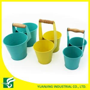 Wholesale Double Garden Flower Pots with Tall Handle pictures & photos