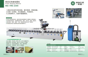 China Window Decorative Woodworking Wrapping Machine Factory pictures & photos