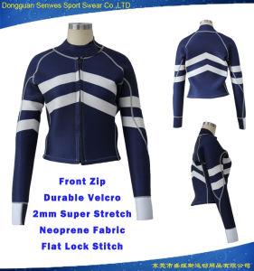Customized Women Neoprene Long Sleeve Spring Suit Wetsuit Jacket pictures & photos