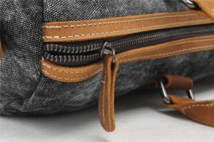 Genuine Leather Washed Canvas Fabric Man Handbag (RS--1011) pictures & photos
