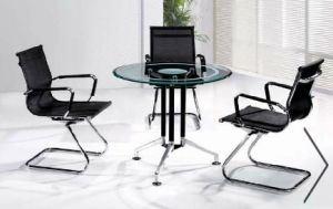 Round Shape Glass Conference Deskl/Table (HX-GL067) pictures & photos