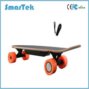 Smartek 4 Wheels Electric Wooden Skateboard with Remote Control Portable Shortboard with UL Gyroscope Electric Patinete Scooter Hoverboard S-019-1 pictures & photos