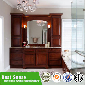 Solid Wood Classic Bathroom Furniture pictures & photos