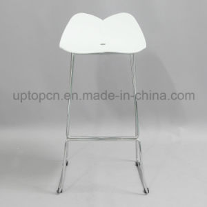 Color Optional Plastic High Bar Chair with Chrome Steel Chair Base (SP-UBC325) pictures & photos