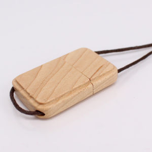 Custom Flash Drive Wood USB Necklace pictures & photos