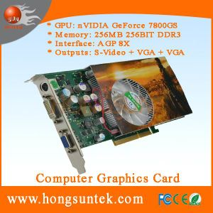 P492 NF 7800GS AGP 256MB DDR3 Arcade Gaming Machines′ Graphics Card